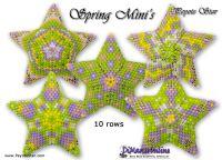 Tutorial Spring Mini Stars x 5 - 3D Peyote Stars + Basic Tutorial (download link per e-mail)