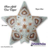 Tutorial Rose Gold Tree Topper 3D Peyote Star + Basic Tutorial Little 3D Peyote Star