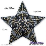 Tutorial Art Deco - 3D Peyote Star + Basic Tutorial Little 3D Peyote Star (download link per e-mail)