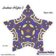 Tutorial Arabian Nights 3 - 3D Peyote Star + Basic Tutorial Little 3D Peyote Star (download link per e-mail)