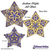 Tutorial Arabian Nights All Stars - 3D Peyote Star + Basic Tutorial Little 3D Peyote Star (download link per e-mail)