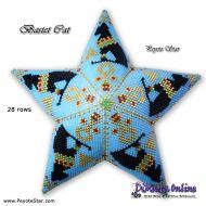 Tutorial Bastet Cat - Egyptian Goddess - 3D Peyote Star + Basic Tutorial Little 3D Peyote Star (download link per e-mail)