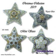 Tutorial Christmas Collection 2019 Minis x 4 - 3D Peyote Star + Basic Tutorial Little 3D Peyote Star