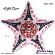 Tutorial Eiffel Tower 3D Peyote Star + Basic Tutorial Little 3D Peyote Star (download link per e-mail)