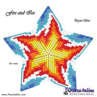 Tutorial Fire and Ice 3D Peyote Star + Basic Tutorial Little 3D Peyote Star (download link per e-mail)