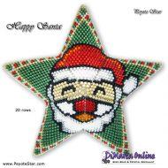 Tutorial Happy Santa 3D Peyote Star + Basic Tutorial Little 3D Peyote Star