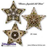 Tutorial Bicone Jugenstil All Stars - 3D Peyote Star + Basic Tutorial (download link per e-mail)