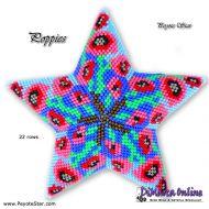 Tutorial Poppies 3D Peyote Star + Basic Tutorial Little 3D Peyote Star (download link per e-mail)