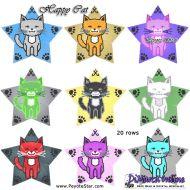 Tutorial Happy Cat 3D Peyote Star + Basic Tutorial Little 3D Peyote Star (download link per e-mail)