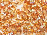 PL-00030/98535 Crystal Rainbow Orange Pellet Beads - 60 x