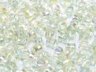 PL-00030/98539 Crystal Rainbow Green Pellet Beads - 60 x