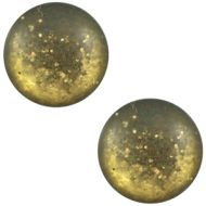 Pol Paipolas Matt Bronze Gold 20 mm Round Cabochon Polaris