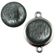 Pol Pearl Shine Anthracite Grey 20 mm Round Cabochon Polaris