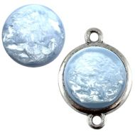 Pol Pearl Shine Cloud Blue 15 mm Round Cabochon Polaris