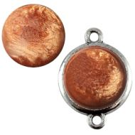 Pol Pearl Shine Mocha Bisque 15 mm Round Cabochon Polaris