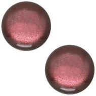 Pol Soft Tone Shiny Aubergine Red 20 mm Round Cabochon Polaris