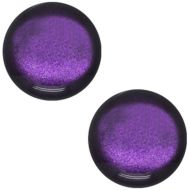 Pol Soft Tone Shiny Deep Purple 20 mm Round Cabochon Polaris