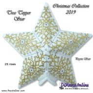 Tutorial Christmas Collection 2019 Tree Topper 3D Peyote Star + Basic Tutorial Little 3D Peyote Star