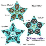 Tutorial Dogs All Stars 3D Peyote Star + Basic Tutorial Little 3D Peyote Star (download link per e-mail)