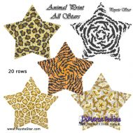 Tutorial Animal Print All Stars 3D Peyote Star + Basic Tutorial Little 3D Peyote Star (download link per e-mail)