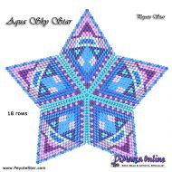 Tutorial Aqua Sky 3D Peyote Star + Basic Tutorial Little 3D Peyote Star (download link per e-mail)