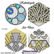 Tutorial Art Deco Kaleidocycle incl. Basic Tutorial (download link per e-mail)