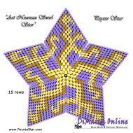 FREE TUTORIAL 15 rows - Art Nouveau Swirl 3D Peyote Star (download link per e-mail)