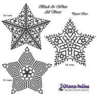 Tutorial Black & White All Stars 3D Peyote Star + Basic Tutorial Little 3D Peyote Star (download link per e-mail)