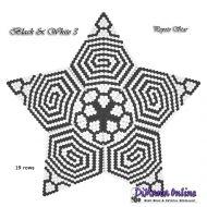 Tutorial Black & White 3 - 3D Peyote Star + Basic Tutorial Little 3D Peyote Star (download link per e-mail)