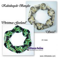 Tutorial Christmas Garland + Swirl Kaleidocycle Bangle incl. Basic Tutorial (download link per e-mail)