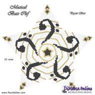 Tutorial Musical Bass Clef 3D Peyote Star + Basic Tutorial Little 3D Peyote Star (download link per e-mail)