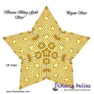 Kit Bicone Bling Gold - 3D Peyote Star