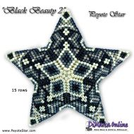 Kit Black Beauty 2 - 3D Peyote Star