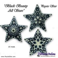 Tutorial Black Beauty All Stars 3D Peyote Star + Basic Tutorial Little 3D Peyote Star (download link per e-mail)
