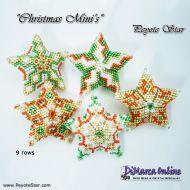 Tutorial Christmas Mini Stars x 5 3D Peyote Star + Basic Tutorial Little 3D Peyote Star (download link per e-mail)