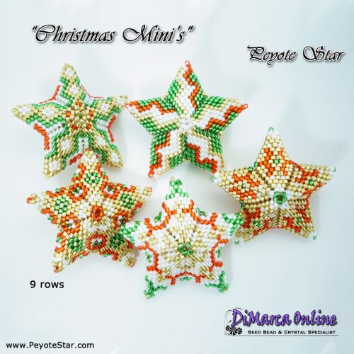 3D PEYOTE STAR Beading PatternTutorial Art NOUVEAU Swirl Star with Basic Instructions