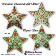 Tutorial Christmas Ornament All Stars 3D Peyote Star + Basic Tutorial Little 3D Peyote Star (download link per e-mail)
