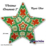 Kit Christmas Ornament 3 - 3D Peyote Star