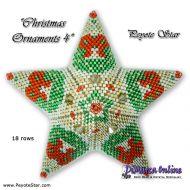 Kit Christmas Ornament 4 - 3D Peyote Star