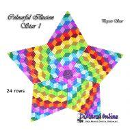 Tutorial Colourful Illusion 1 - 3D Peyote Star + Basic Tutorial Little 3D Peyote Star (download link per e-mail)