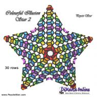 Tutorial Colourful Illusion 2 - 3D Peyote Star + Basic Tutorial Little 3D Peyote Star (download link per e-mail)