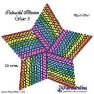 Tutorial Colourful Illusion 3 - 3D Peyote Star + Basic Tutorial Little 3D Peyote Star (download link per e-mail)