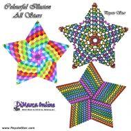 Tutorial Colourful Illusion All Stars 3D Peyote Star + Basic Tutorial Little 3D Peyote Star (download link per e-mail)