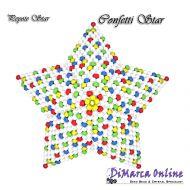 FREE TUTORIAL 11 rows - Confetti 3D Peyote Star (download link per e-mail)