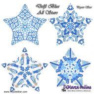 Tutorial Delft Blue All Stars 3D Peyote Star + Basic Tutorial Little 3D Peyote Star (download link per e-mail)