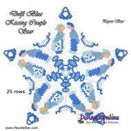 Tutorial Delft Blue Kissing Couple - 3D Peyote Star + Basic Tutorial Little 3D Peyote Star (download link per e-mail)
