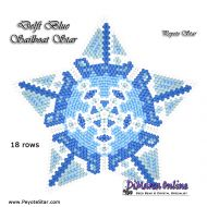 Tutorial Delft Blue Sailboat - 3D Peyote Star + Basic Tutorial Little 3D Peyote Star (download link per e-mail)
