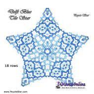 Tutorial Delft Blue Tile - 3D Peyote Star + Basic Tutorial Little 3D Peyote Star (download link per e-mail)