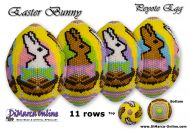 Tutorial 11 rows - Easter Bunny Peyote Egg incl. Basic Tutorial (download link per e-mail)
