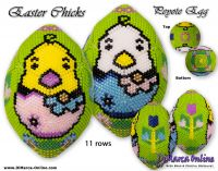 Tutorial 11 rows - Easter Chicks Peyote Egg incl. Basic Tutorial (download link per e-mail)